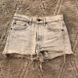 Levi's Acid Wash Denim Shorts